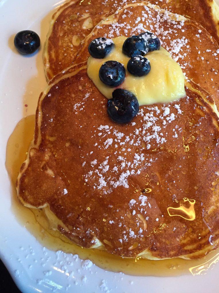 Lemon Ricotta Pancakes blueberries & meyer lemon curd  - $18