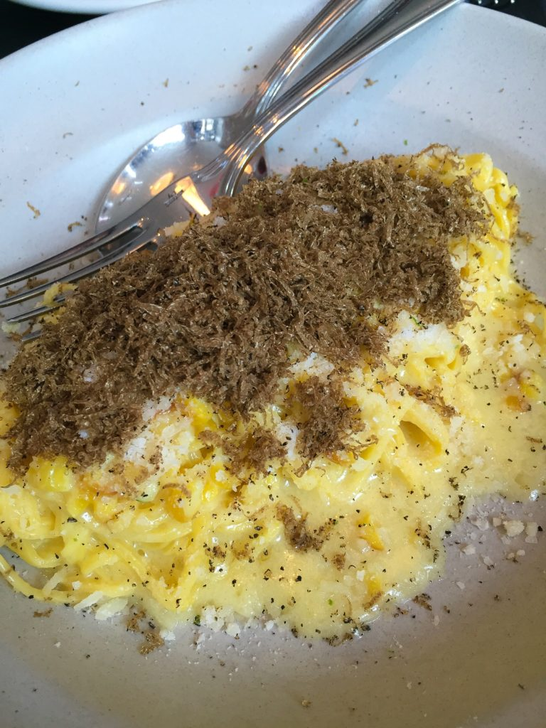 Hand Cut Tajarin Pasta - Sweet Corn and Summer Truffle - $21