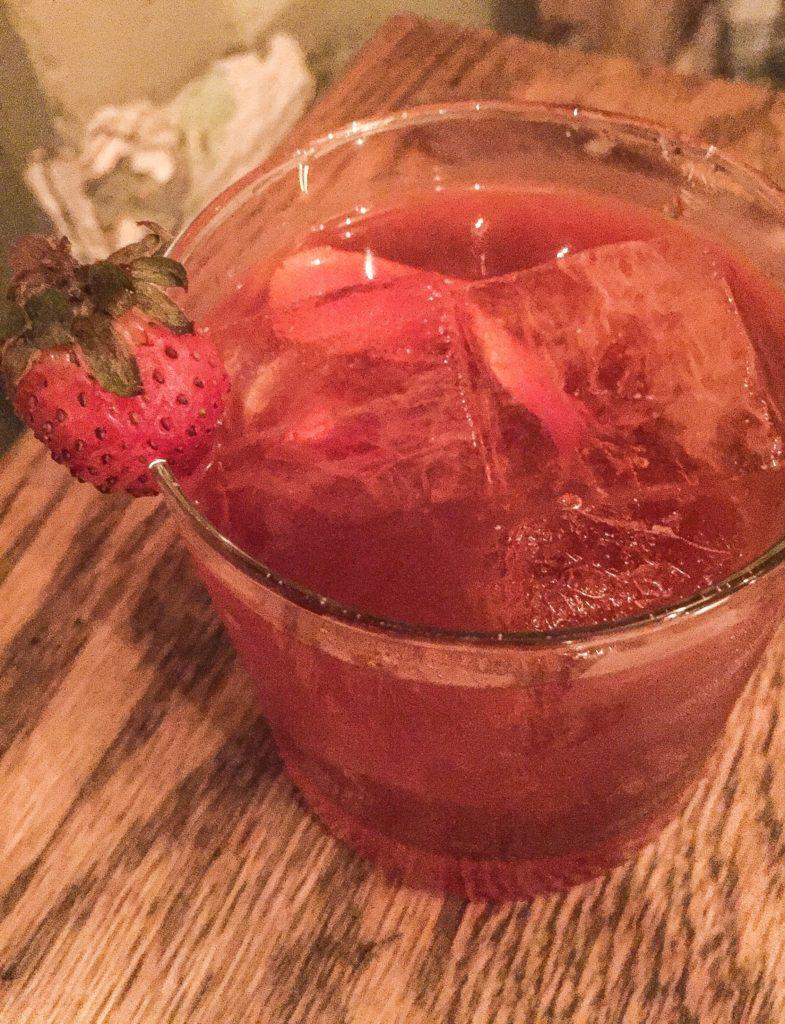 Strawberry Rhubarb Negroni Strawberry gin, Aperol, Sfumato Rabarbaro, Dolin Rouge $13