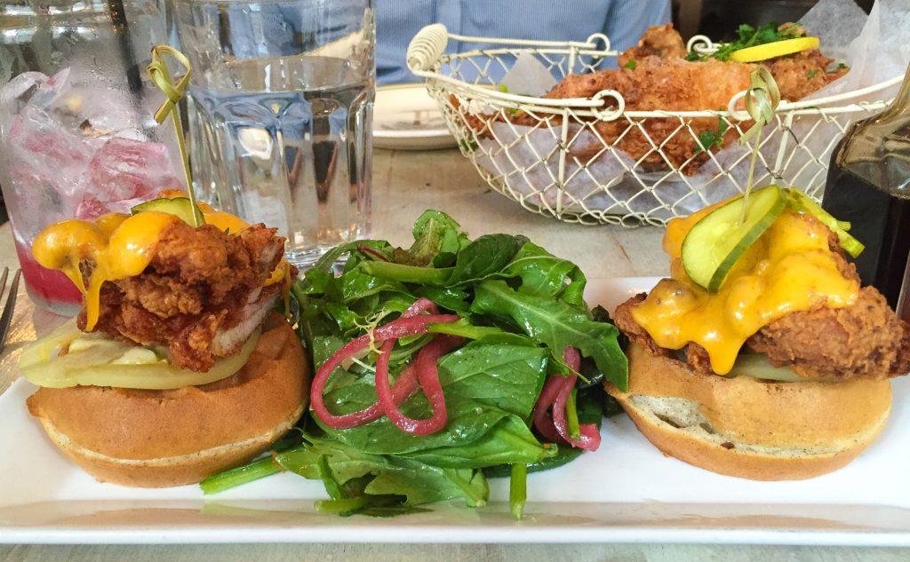 Fried Chicken & Waffle Sandwich